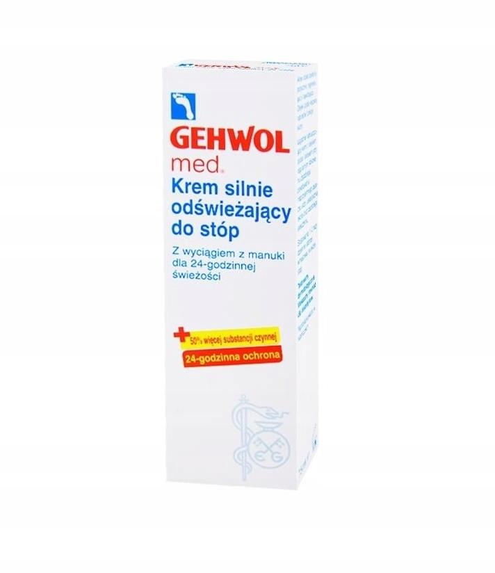 Gehwol med, krem silnie odświeżający do stóp, 75 m