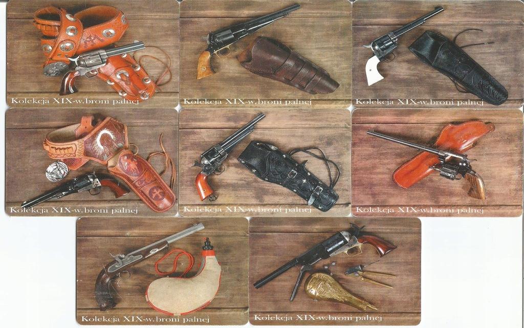 nr 74-81D - Kolekcja XIX w. broni palnej - komplet