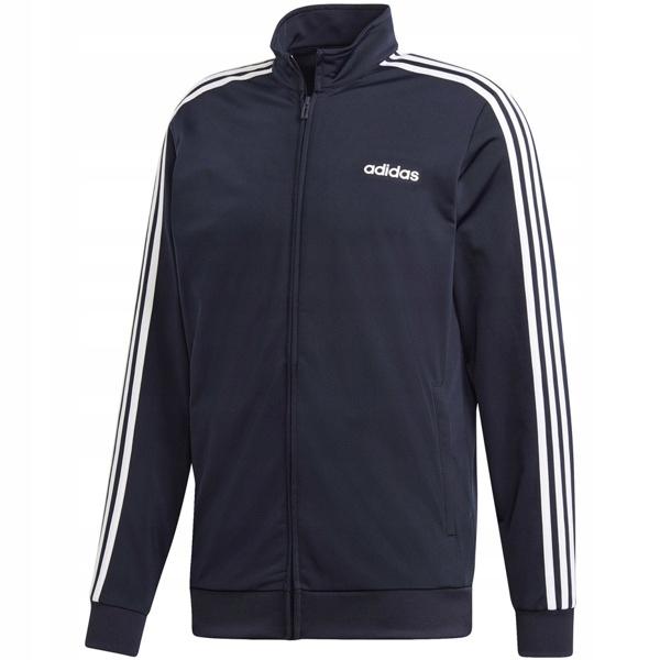 Adidas Bluza Męska Bawełniana Wkładana Trzy Paski Czarna