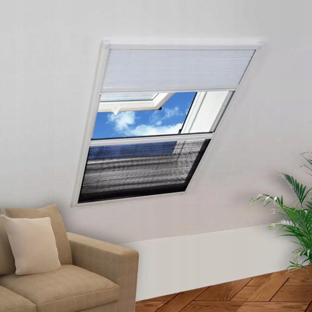 VidaXL Plisowana moskitiera okienna, 160 x 110 cm,