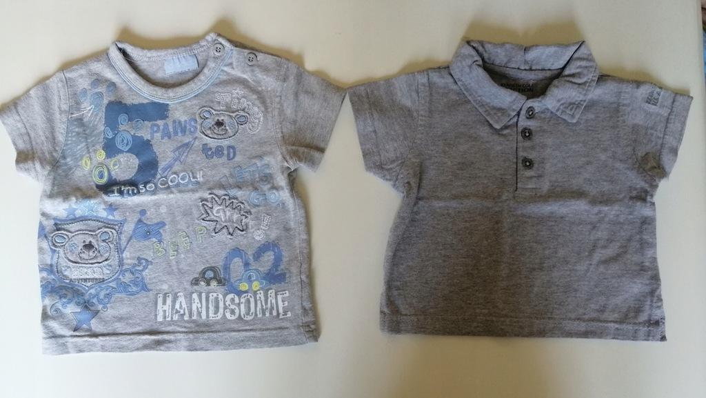 2 szt koszulek podkoszulki 68