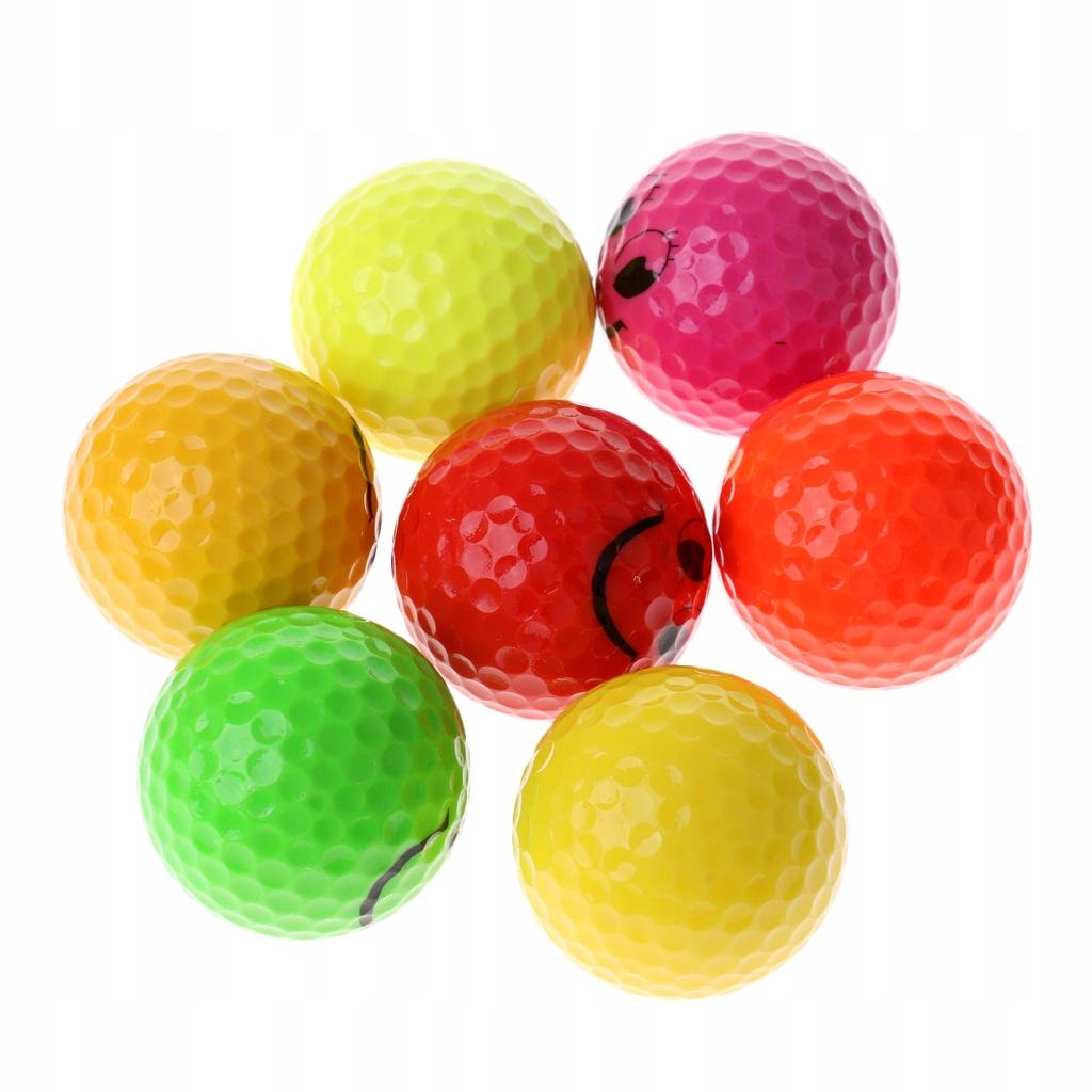 7 sztuk piłek golfowych - 7 sztuk Mix kolorów