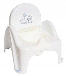 nocnik krzesełko z pozytywką Króliczki biały