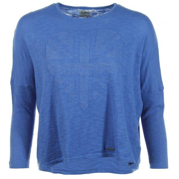 -60% Niebieski luźny SWETER PEPE JEANS na 128 cm