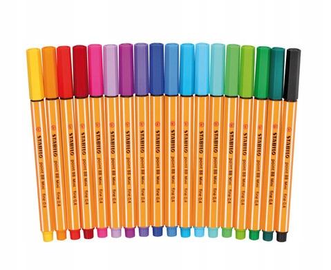Cienkopisy Stabilo Point 88 Mini 17 kolorów #P15