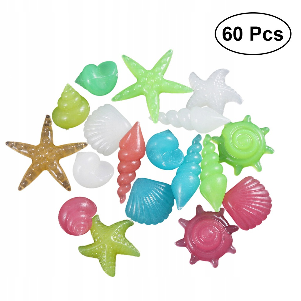 60 sztuk Kolorowa żwirowa muszla Glow Stones in th