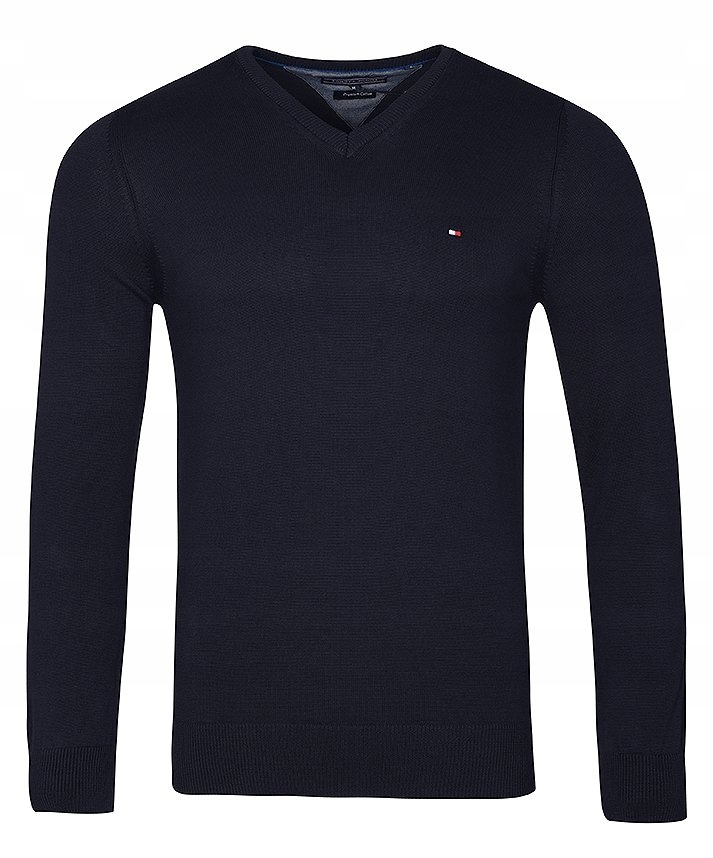 Sweter Męski Tommy Hilfiger Granatowy V-Neck / M