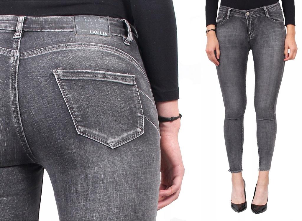 LAULIA damskie spodnie JEANSY postrzępione 34XS
