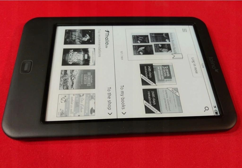EINK TOLINO SHINE 2HD EBOOK PODŚWIETLE MOBI 300ppi