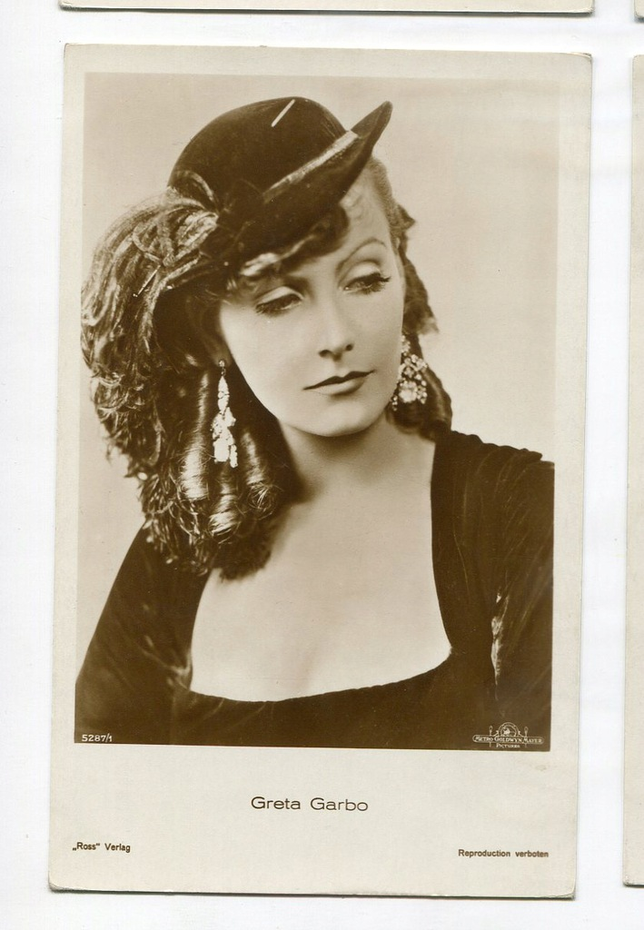 Greta Garbo Kino Film Aktorka Foto Pocztówka 66