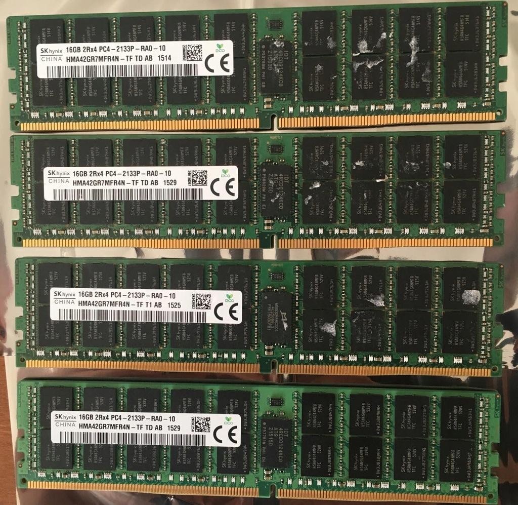 Pamięć DDR4 4x16GB 2RX4 PC4-2133P Hynix