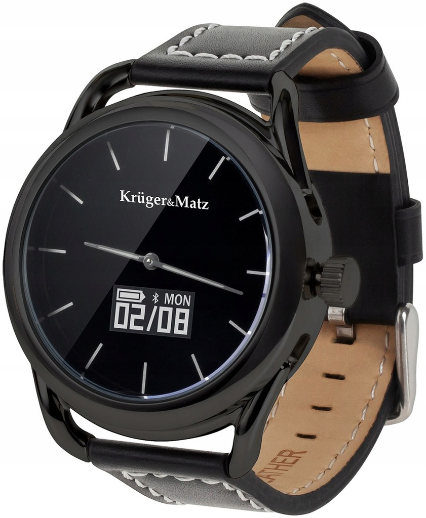 OUTLET Czarny Smartwatch KRUGER&MATZ Hybrid
