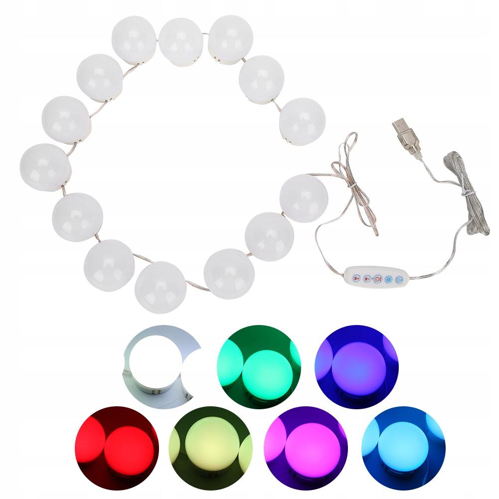 Lampki LED na lustro toaletkę makijaż 14 sztuk