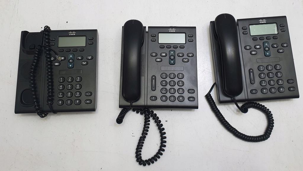 3x Cisco CP-6945-C-K9 telefon IP 1GB PL menu , SIP