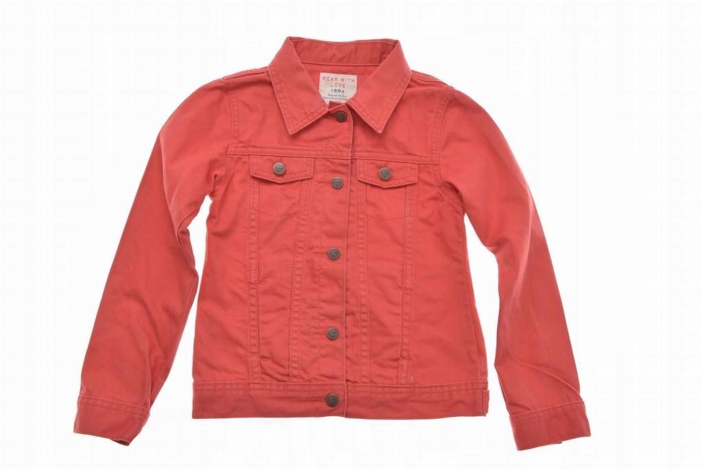 M&S kurtka katana jeansowa czerwona 122