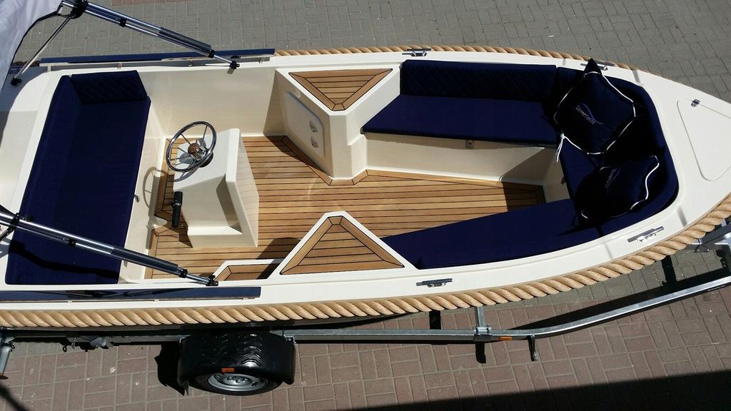 łódź motorowa łódka wędkarska SILVER 495
