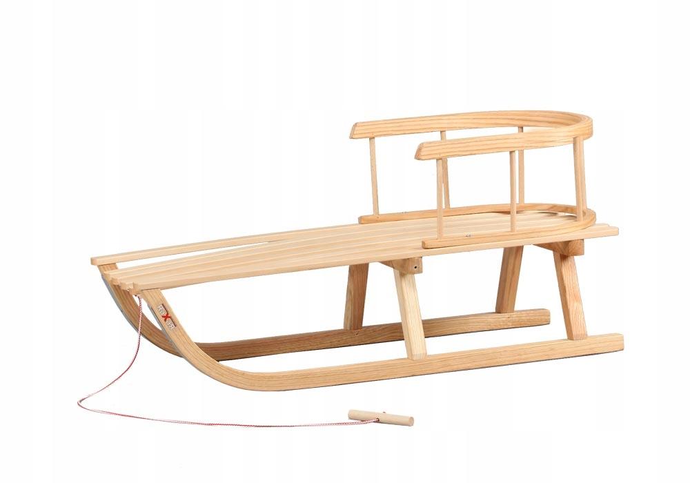 Sanki Drewniane Dla Dzieci Z Oparciem Sznurek 8272211687 Oficjalne Archiwum Allegro