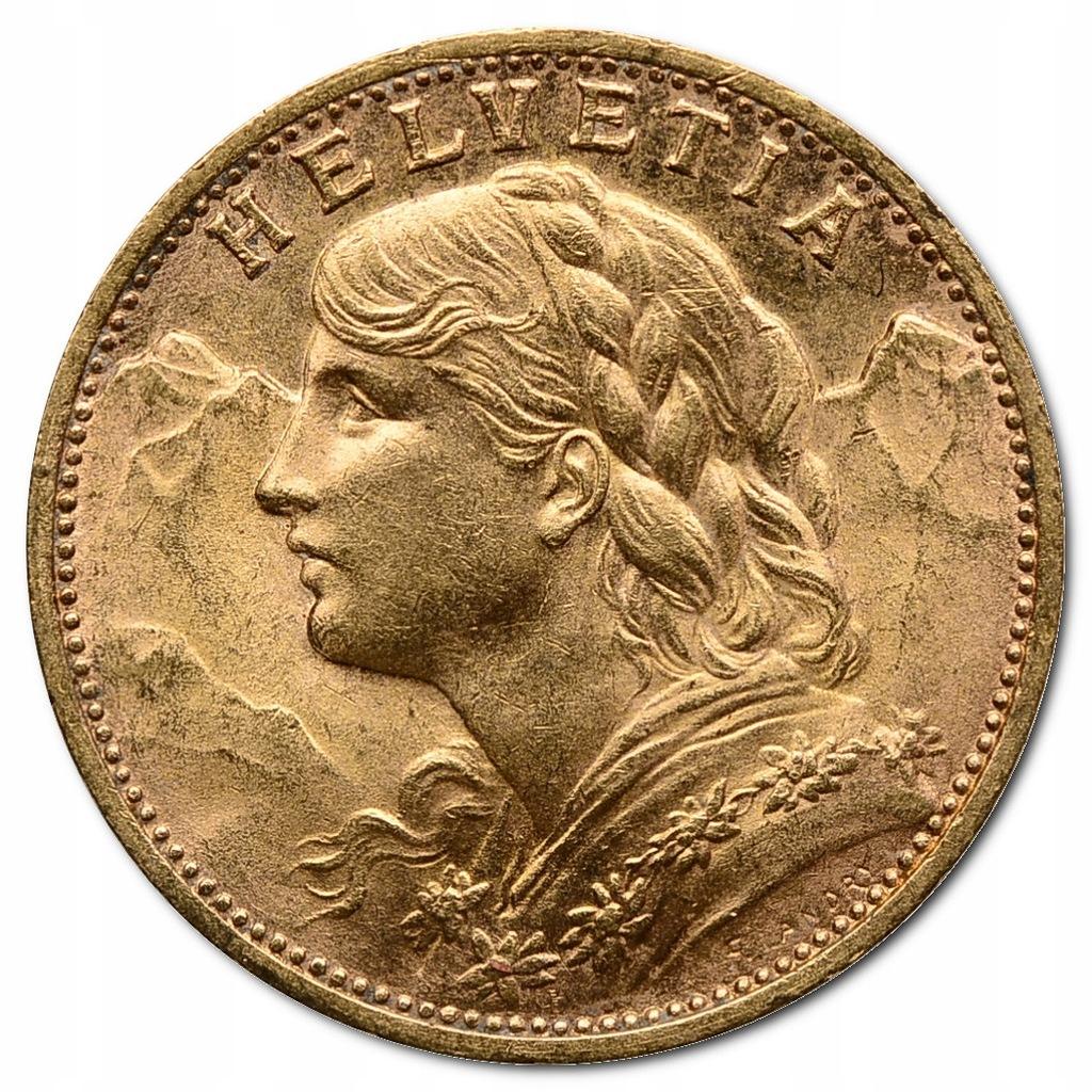 44.SZWAJCARIA, 20 FRANKÓW 1927