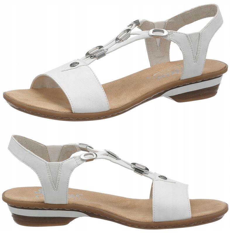 Sandały damskie Rieker 60855 80 Białe