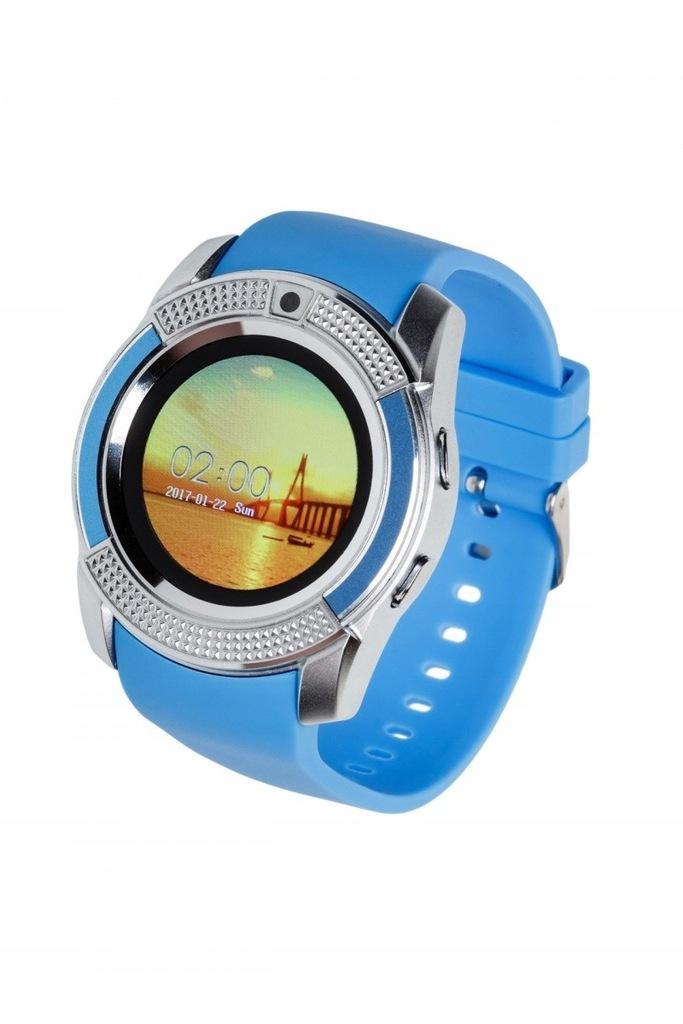 Smartwatch G11 niebiesko-srebrny