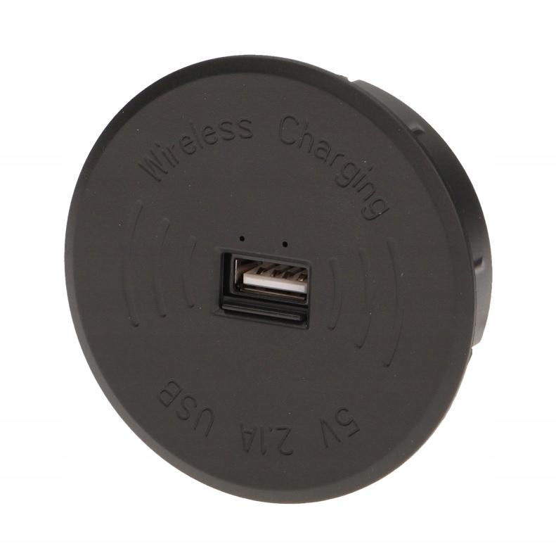 BEZPRZEWODOWA ŁADOWARKA INDUKCYJNA + USB CZARNA