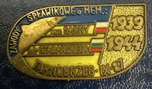 Odznaka wędkarska PZW Memoriał Sarny Tarnobrzeg 87