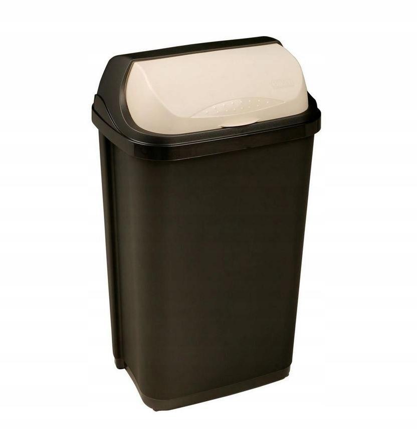 Kosz na śmieci SIS 10 l z pokrywą grafitowy fra