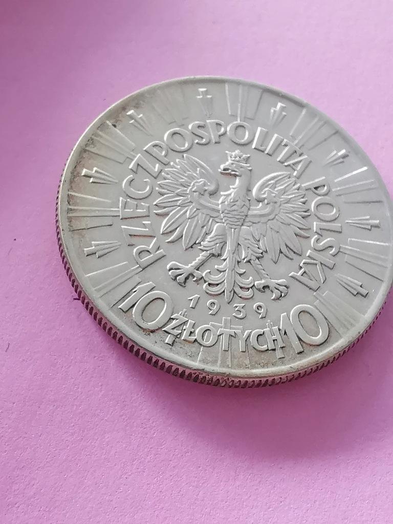 10zł Piłsudski 1939r Orginał
