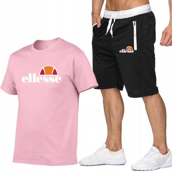 T-shirt RÓŻOWY+ Spodenki Ellesse R L MPA WYGODNE