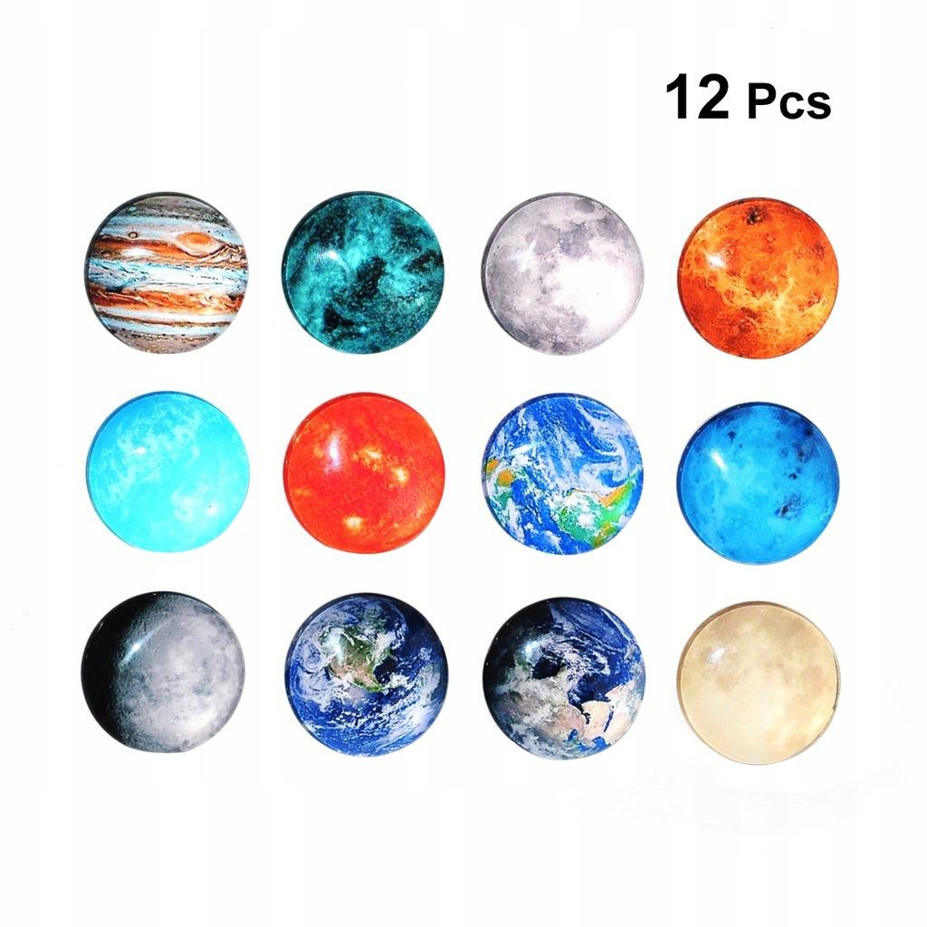 12 sztuk Kosmiczne Księżyc Seria Planet Magnesy Ma