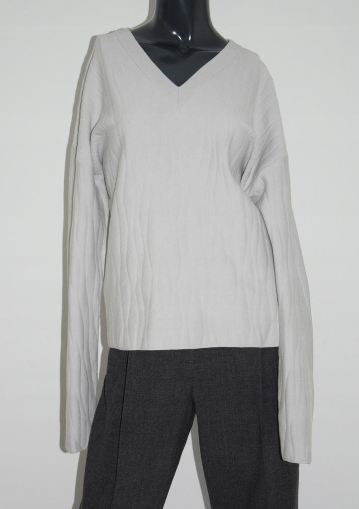 cos pudełkowy szary sweter bawełna r. 38/M
