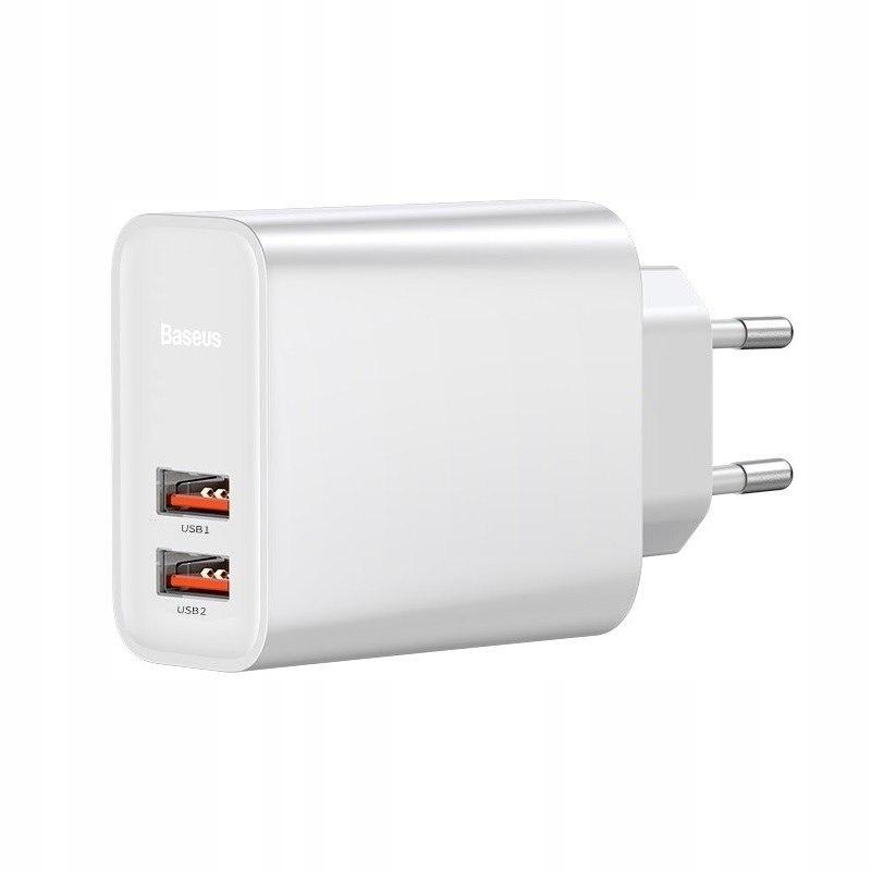 Szybka ładowarka sieciowa Baseus 2x USB QC 3.0 30W