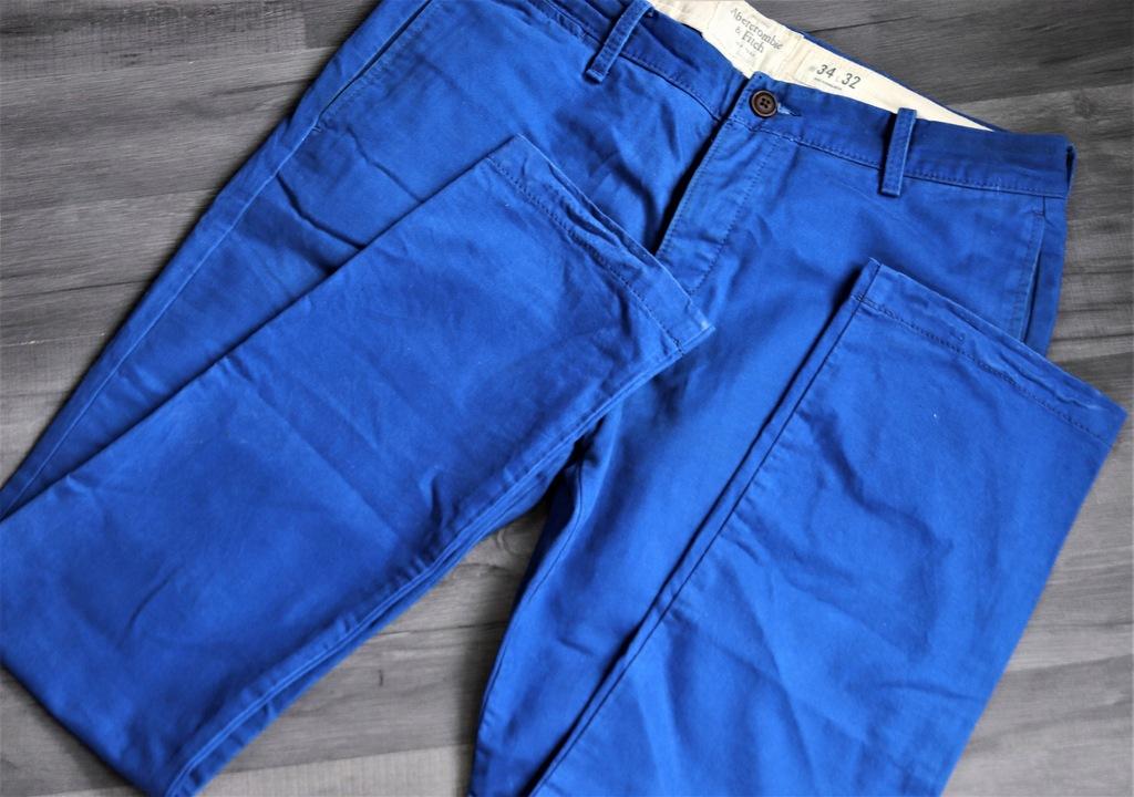 Niebieskie spodnie W34 L32 ABERCROMBIE&FITCH