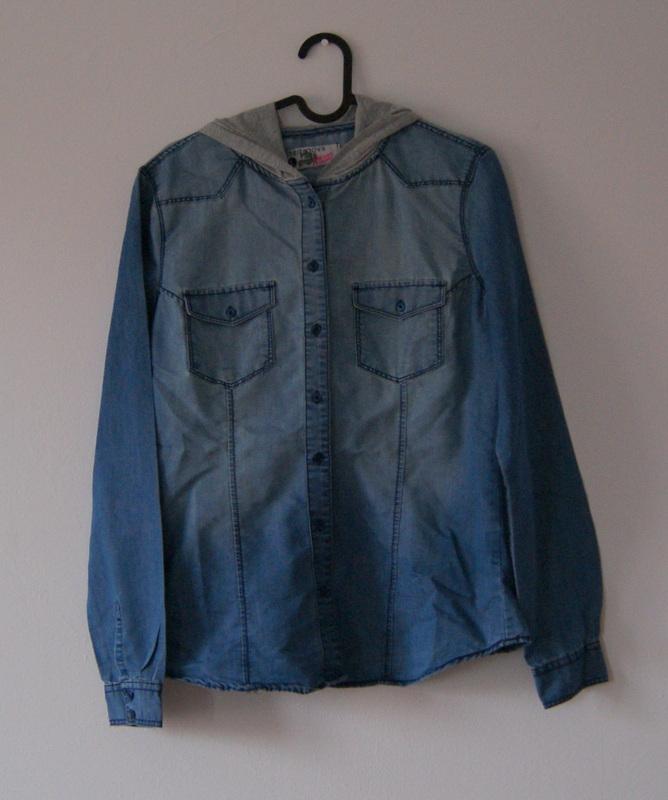 TERRANOVA L 40 koszula jeansowa kaptur basic 7599255382  UZQcs