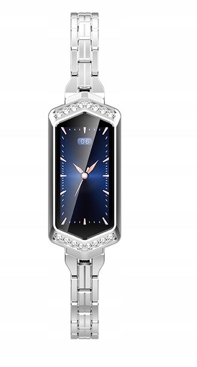 Elegancki Smartwatch Dla Kobiet SREBRNY Watchmark