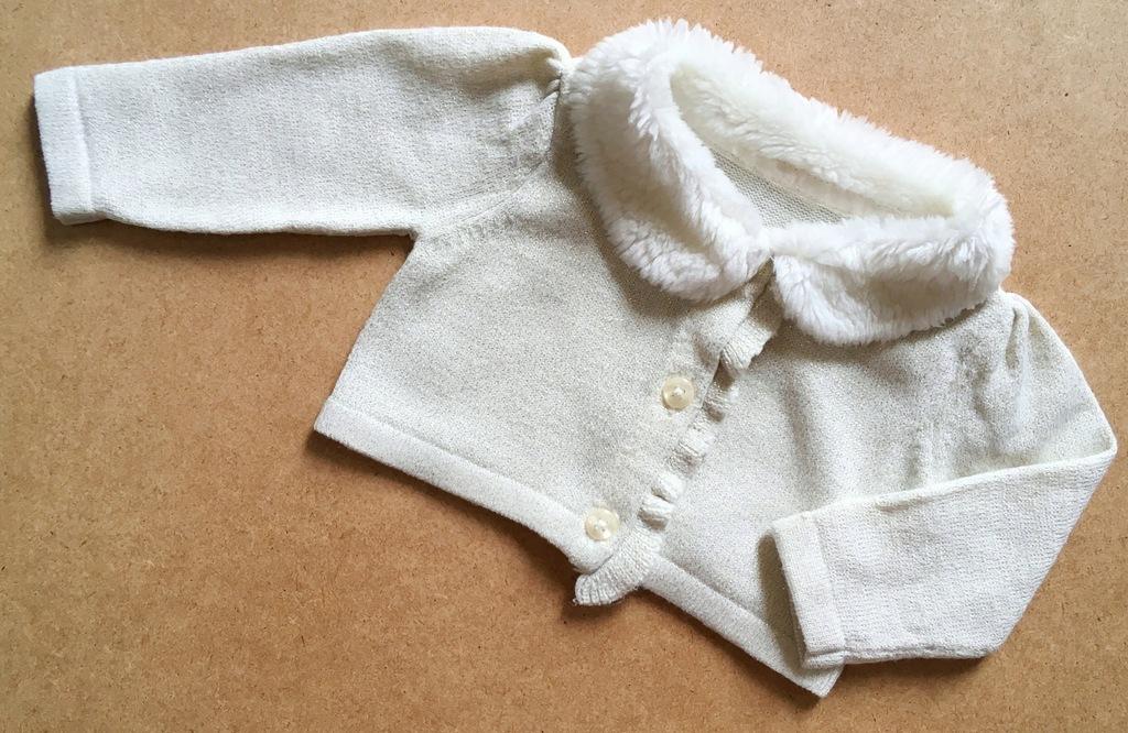 GEORGE sweterek futro złota nitka 50/56 4,1kg