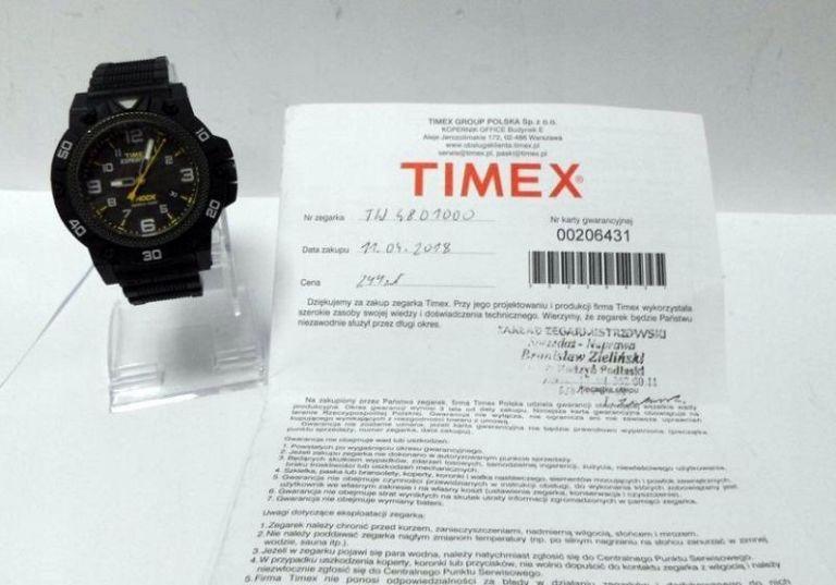 ZEGAREK MĘSKI TIMEX EXPEDITION TW 4B01000 GWAR.