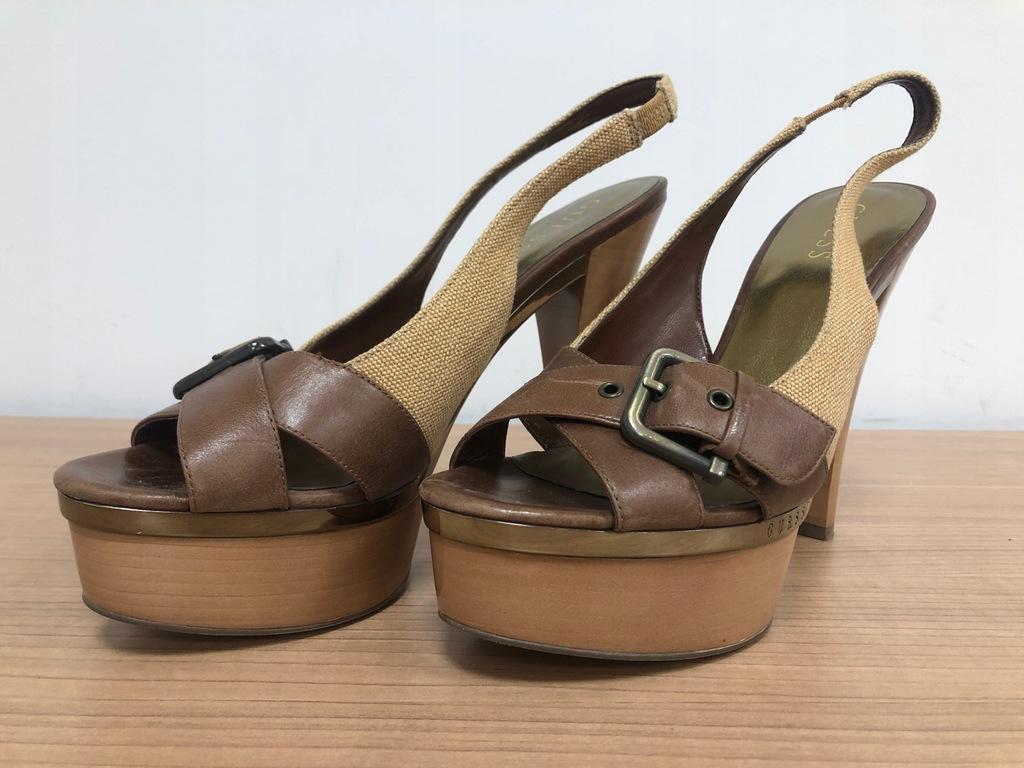 GUESS brązowe sandałkii rozmiar 39