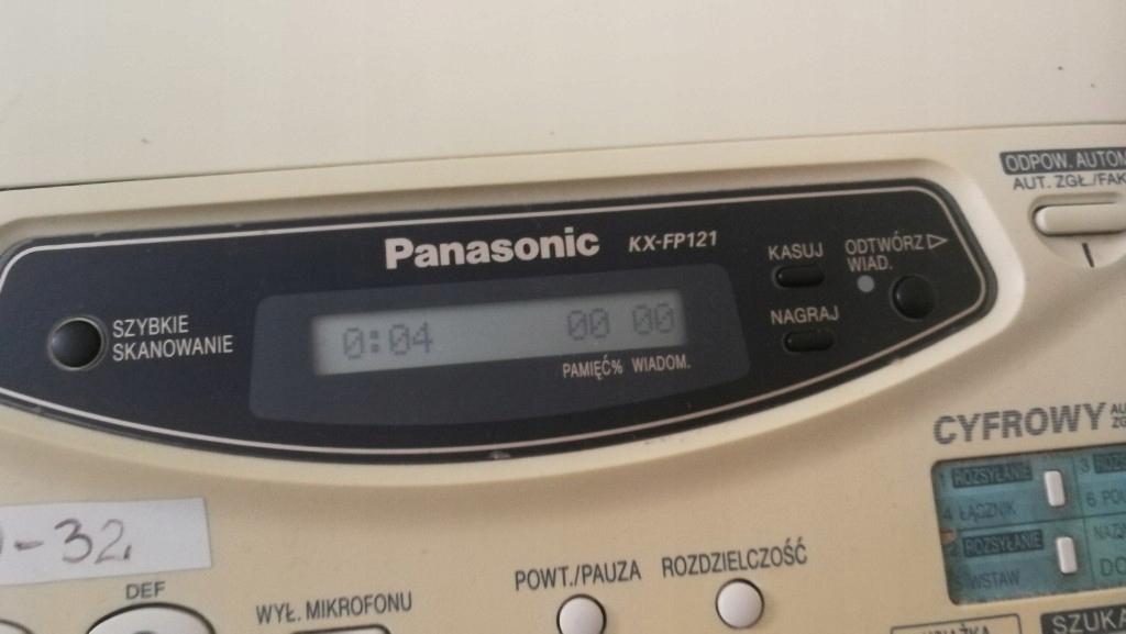 Faks fax Panasonic Kx-fp121 wysoki model