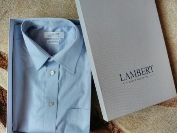 Koszula męska Wólczanka LAMBERT 40 niebieska nowa