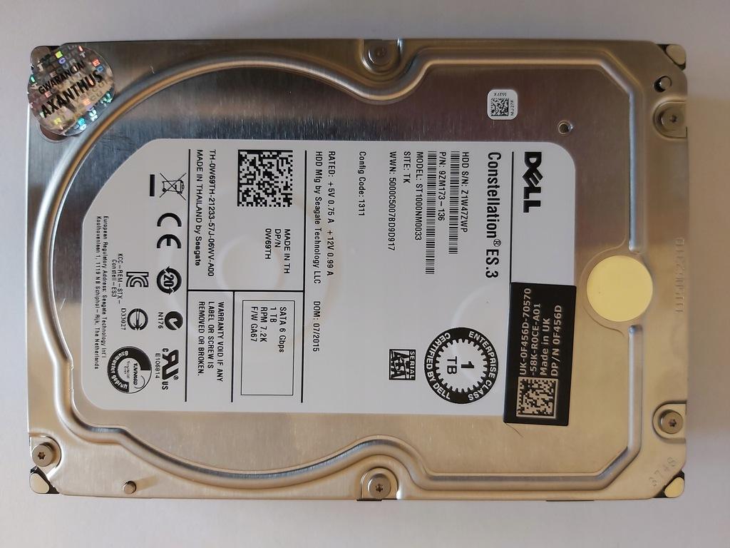 Dysk DELL 1TB 7200RPM SATAIII 6GB ST1000NM0033