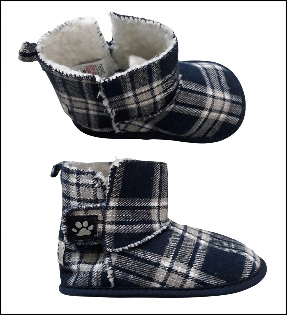 chłopiec pantofle buty buciki NEXT 6-12 ms r.18
