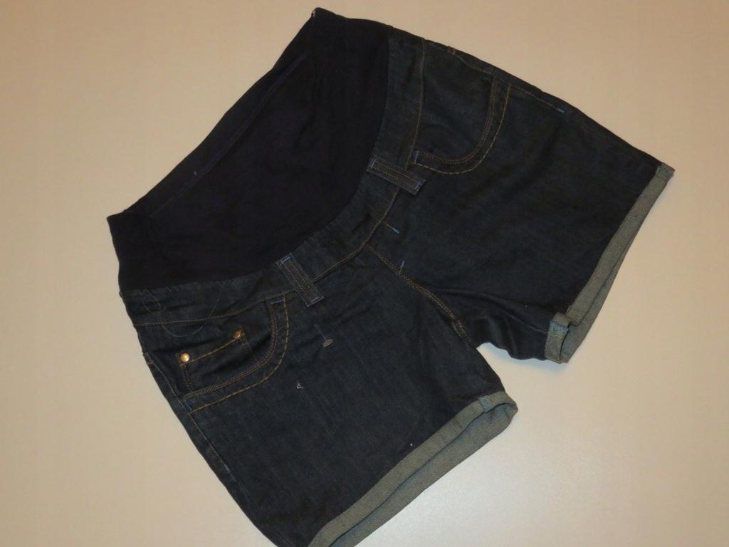 tu roz. 44 Spodenki jeansowe Szorty ciążowe panel