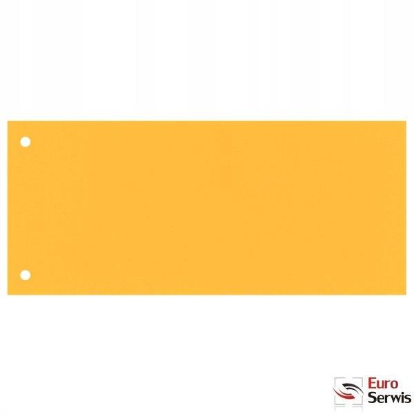 Przekładki kartonowe 1/3 A4 żółte 100 sztuk 20994/