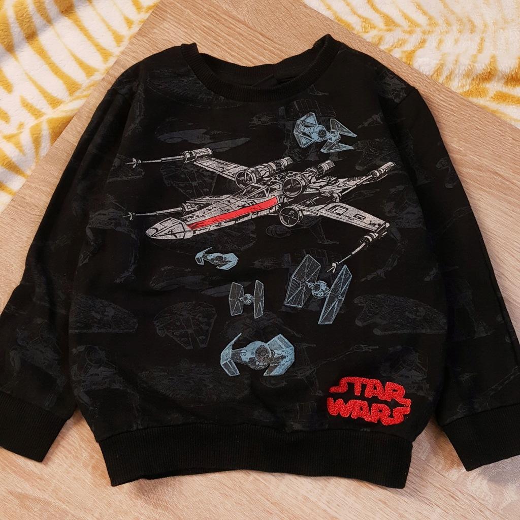 TU czarna dresowa bluza STAR WARS 3 lata 98
