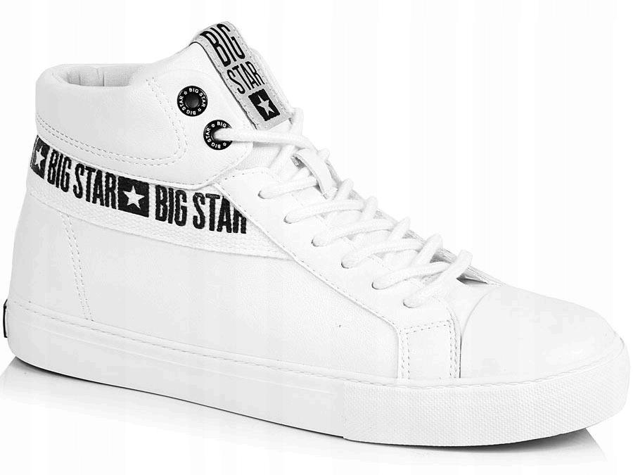 TRAMPKI męskie WYSOKIE białe BIG STAR EE174340 42