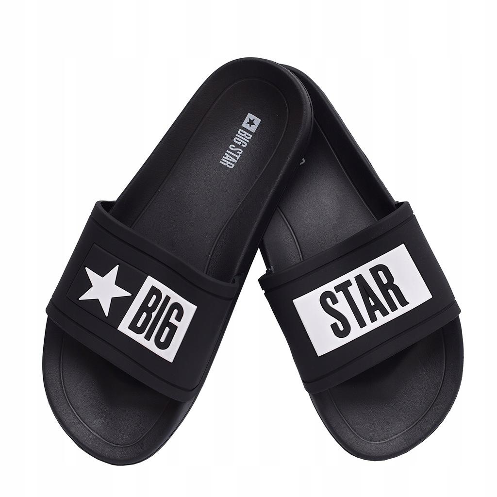 Klapki męskie Big Star DD174699906 czarne 41
