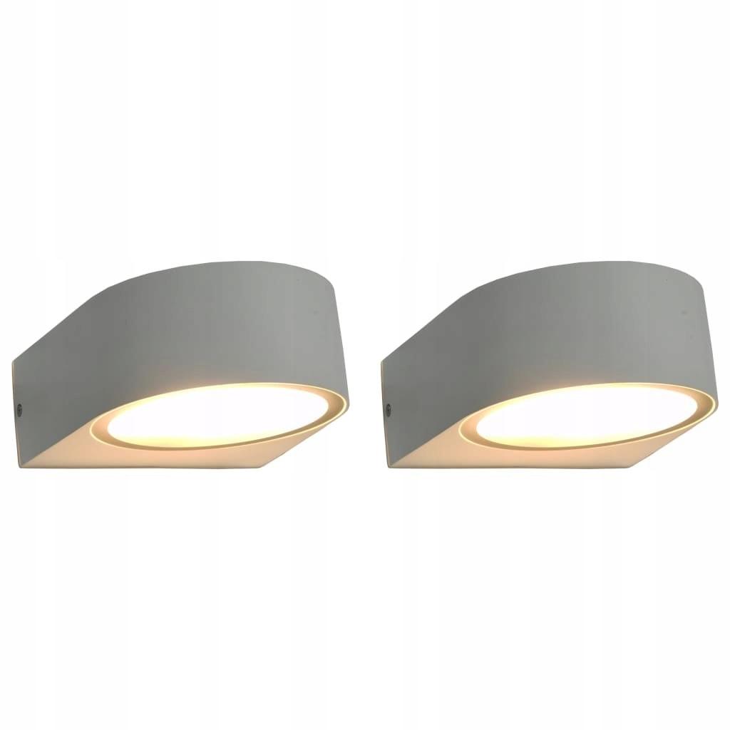 Zewnętrzne lampy ścienne, 2 szt., 11 W, białe, ok