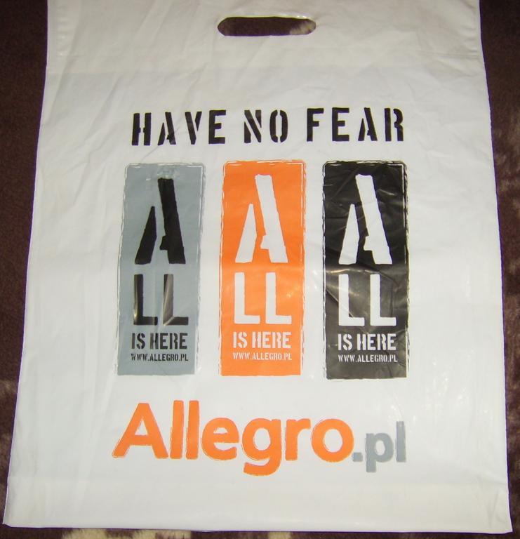Reklamówka, torba foliowa ALLEGRO- GRAM Z JANUSZEM