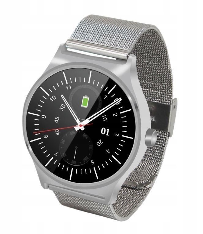 GOCLEVER FIT WATCH ELEGANCE smartwatch srebrny